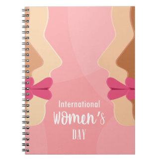 pink international womens day notebook