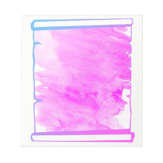 Pink Iridescence Watercolor Scroll Planner Notepad