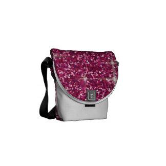 Pink iridescent glitter courier bags