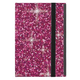 Pink iridescent glitter cover for iPad mini