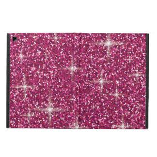 Pink iridescent glitter iPad air cover