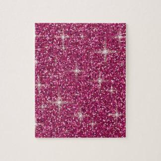 Pink iridescent glitter jigsaw puzzle