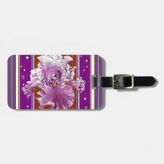 Pink Iris Puce Purple Pattern gifts Bag Tag
