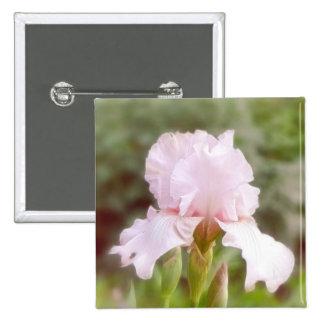 Pink Iris - Vanity Pinback Button