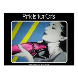 'Pink is for Girls' Poster