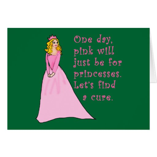 Pink is for Princesses Breast Cancer Products Card