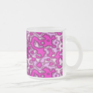 pink is not a color its an attitude frosted glass mug