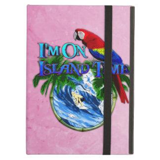 Pink Island Time Surfing iPad Folio Cases