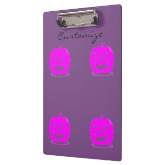 Pink Jack o'lantern Halloween Thunder_Cove Clipboard