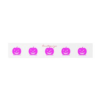 Pink Jack o'lantern Halloween Thunder_Cove Invitation Belly Band