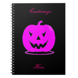 Pink Jack o'lantern Halloween Thunder_Cove Notebook