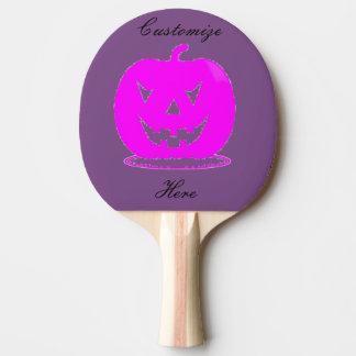 Pink Jack o'lantern Halloween Thunder_Cove Ping Pong Paddle