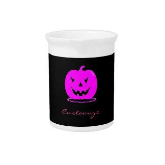 Pink Jack o'lantern Halloween Thunder_Cove Pitcher