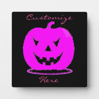 Pink Jack o'lantern Halloween Thunder_Cove Plaque