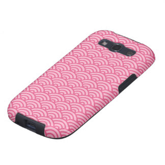 Pink Japaneese abstract wave pattern Galaxy case Samsung Galaxy SIII Cover