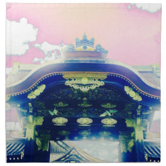 Pink Japanese Castle Series Napkin