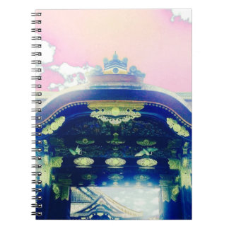 Pink Japanese Castle Series Spiral Notebook