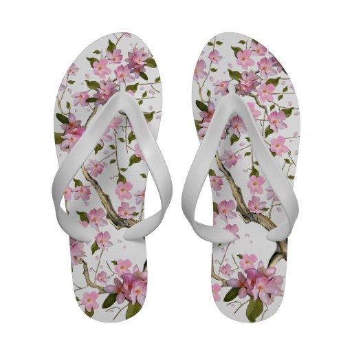 Pink Japanese Cherry Blossom Flip Flop Flip-Flops