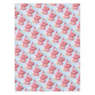 Pink Japanese Cherry Blossom Photograph Tablecloth