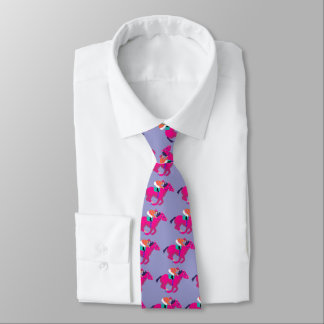 Pink jazzy horse racing tie by John Dyer