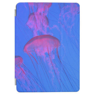 Pink Jelly Fish in the Sky blue sea iPad Air Cover