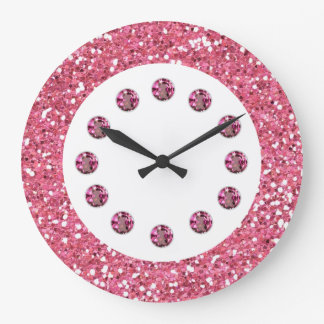 Pink Jewel Bling Wall Clock