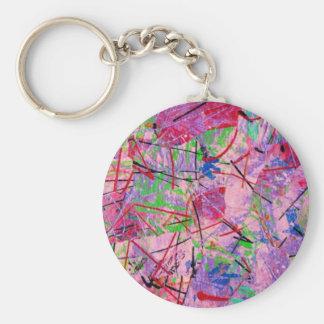 Pink Jive Basic Round Button Key Ring