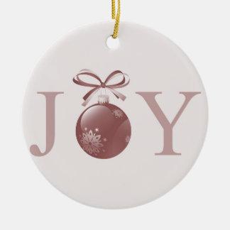 Pink Joy Christmas Ornament