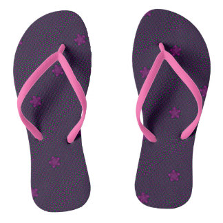 Pink kaleidoscope stars thongs