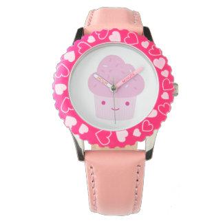 Pink Kawaii Cupcake Wrist Watches