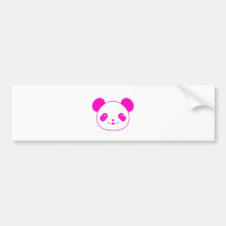 Pink Kawaii Panda Bear Bumper Sticker