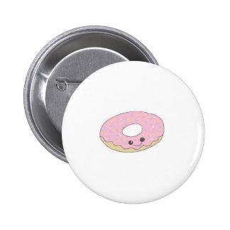 Pink Kawaii Sugar Donut Button