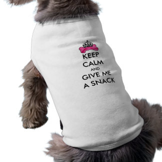 Pink Keep Calm And Give Me A Snack Bone Template Sleeveless Dog Shirt
