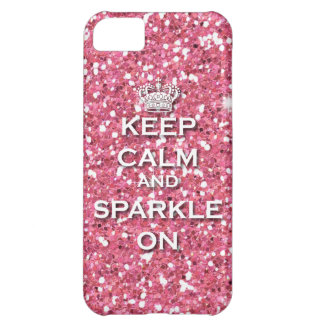 Pink Keep Calm and Sparkle On IPhone5 Case