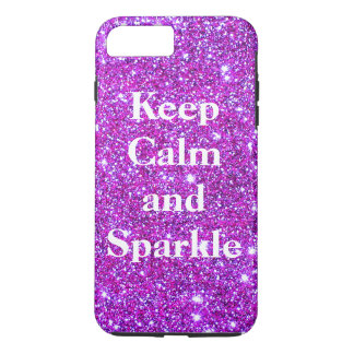 Pink Keep Calm Sparkle Sparkly Glam CricketDiane iPhone 7 Plus Case