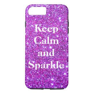 Pink Keep Calm Sparkle Sparkly Glam CricketDiane iPhone 7 Plus Case