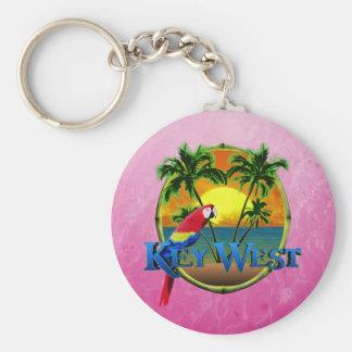 Pink Key West Sunset Key Ring