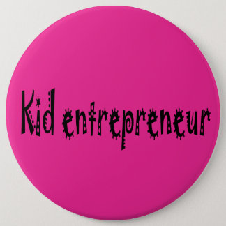 pink kid entrepreneur button