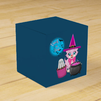 Pink Kitten Halloween Cartoon Favour Box