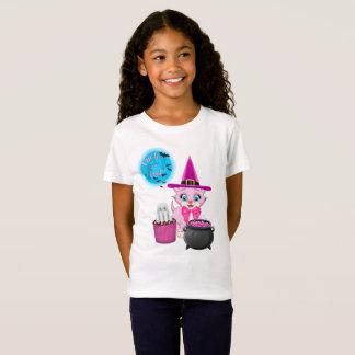 Pink Kitten Halloween Cartoon T-Shirt