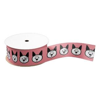 Pink Kitty Grosgrain Ribbon