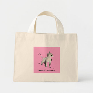 Pink Kitty Small Tote bag