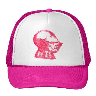 Pink Knight Medieval Armor Helmet Knights Mesh Hat