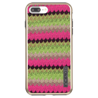 Pink Knit Green Black Wave Crochet Knitted Weave Incipio DualPro Shine iPhone 8 Plus/7 Plus Case