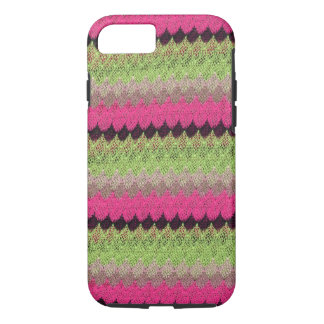 Pink Knit Green Black Wave Crochet Knitted Weave iPhone 7 Case