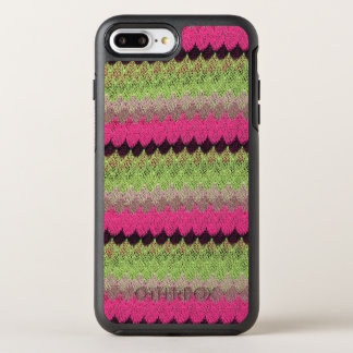 Pink Knit Green Black Wave Crochet Knitted Weave OtterBox Symmetry iPhone 8 Plus/7 Plus Case