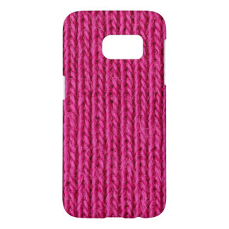 Pink knitted wool