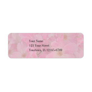 Pink Knockout Roses Custom Address Label