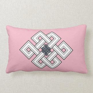 Pink Knot Lumbar Pillow