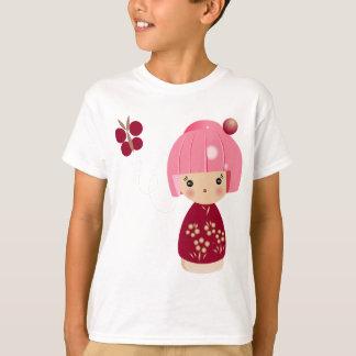 Pink Kokeshi Triplet Kids' Tee